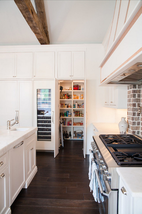 Hidden Walk In pantry Transitional Kitchen