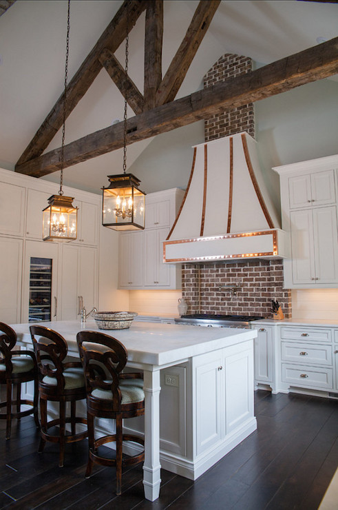 Whitewashed Brick Transitional Kitchen Jenny Wolf