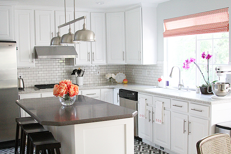kitchen with corian countertops - transitional - kitchen