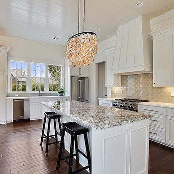 Gray Kitchen Cabinets with Gray Granite Countertops - Transitional ...