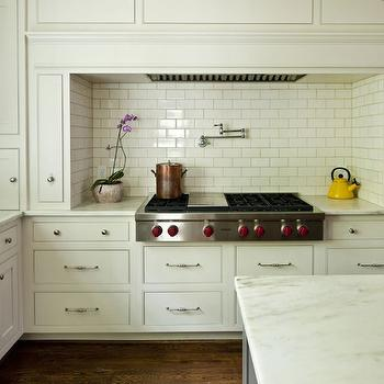 Stove Nook with Pull Out Spice Racks, Transitional, Kitchen