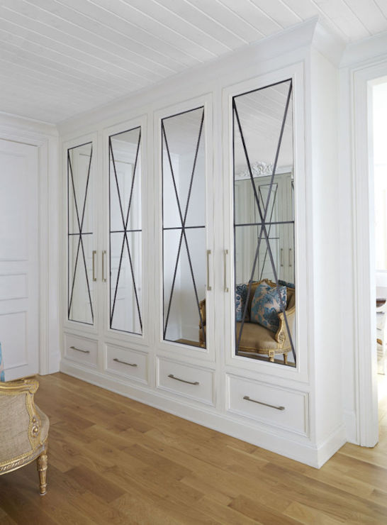 Mirrored Closets Contemporary Closet Closette