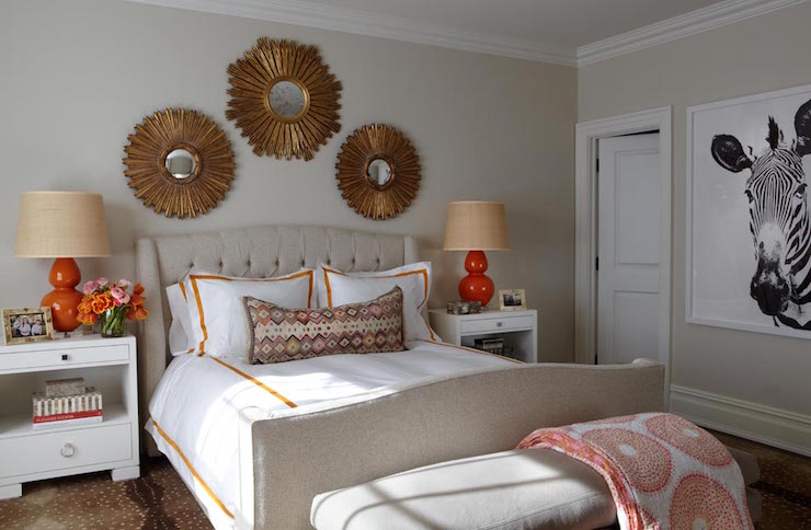 Tan and Orange Bedrooms - Transitional - Bedroom