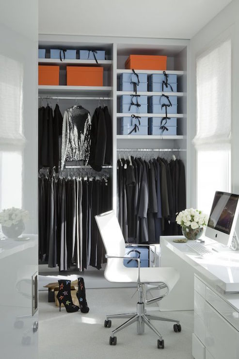 Desk In Walk Closet