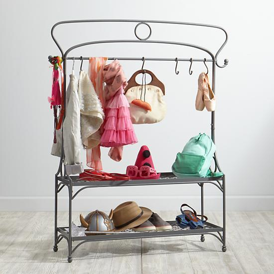 Dress Cabinets For Success: Clea Pipe Grey Clothes Rack
