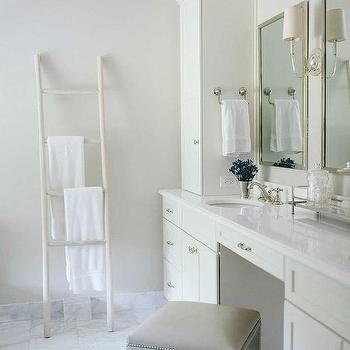 Exceptional Master Bathroom With Towel Ladder