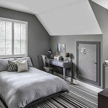 Boys gray bedroom