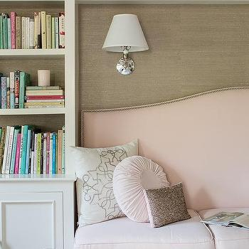 Pink and Gray Rooms, Transitional, Den/library/office