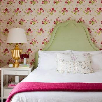 Green and Pink Cottage Bedrooms, Cottage, Bedroom