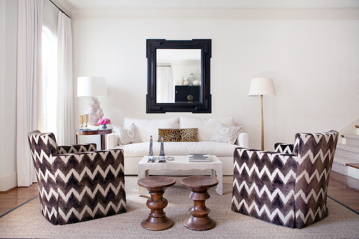 Swell Black And White Chevron Chairs Contemporary Living Room Short Links Chair Design For Home Short Linksinfo