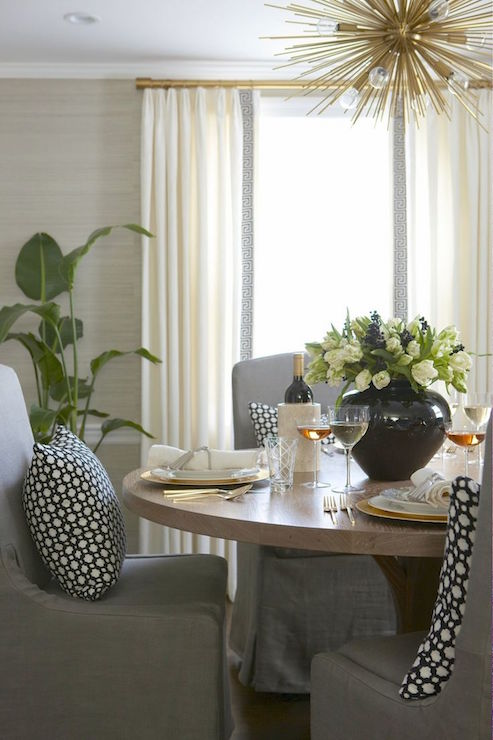taupe dining room grasscloth design ideas