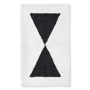 Nate Berkus Graphic Black White Bath Rug