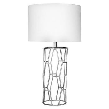 Surya Metal Silver Table Lamp