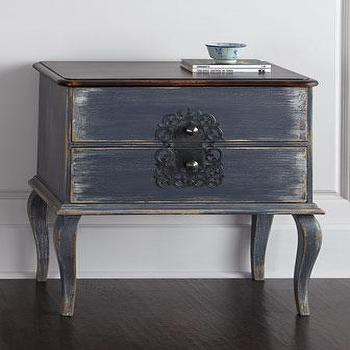 Gentry Hand Painted Distressed Nightstand