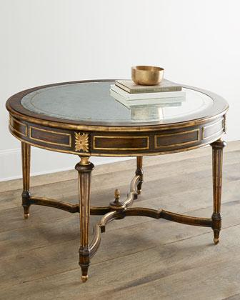 John Richard Collection Cabot Entry Brown And Gold Table - John richard coffee table