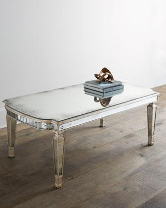 John Richard Collection Dara Mirrored Champagne Coffee Table - John richard coffee table