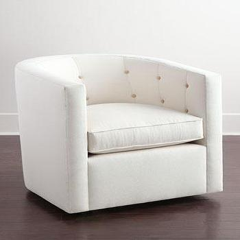 Betty White Tufted Swivel Chair