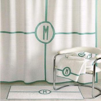 Matouk Parterre Monogram Towels