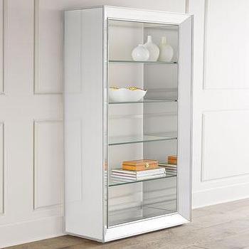 Silver Bassett Mirror Minetta Bookcase