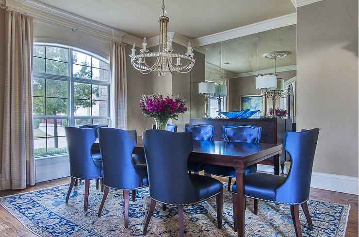 blue dining room. Royal Blue Dining Chairs  Traditional Room