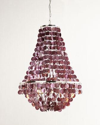 Capiz purple chandelier blythe capiz purple chandelier mozeypictures Gallery