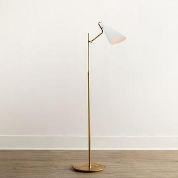 Jonathan adler parker table lamp in antique brass design for Clare brass floor lamp