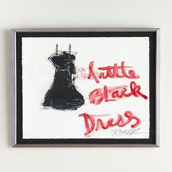 RFA Fine Art Little Black Dress Giclee Painting