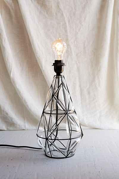 Magical Thinking Blown Glass Black Lamp Base