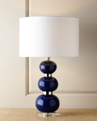 Navy Blue Table Lamps: Shelby Navy Table Lamp,Lighting