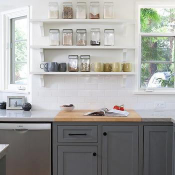 Grey kitchen cabinets awesome best ideas about white for Charcoal grey kitchen cabinets