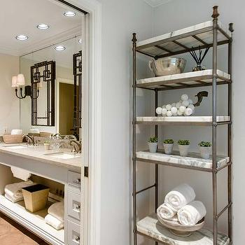 Bathroom Etagere Decorating Ideas bathroom etagere design ideas