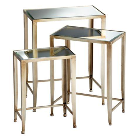 Melrose Iron Champagne Nesting Tables