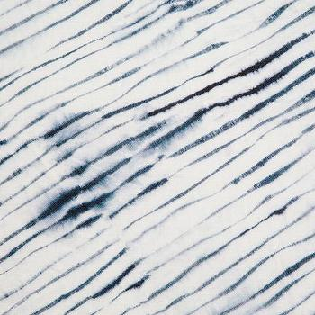Blurred Stripe Blue Dye Fabric