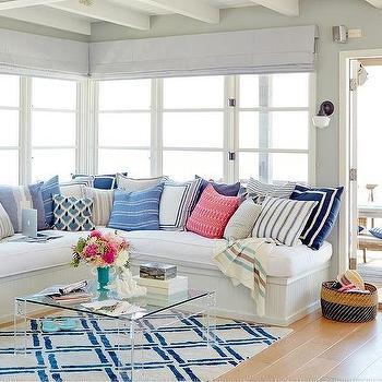 Beadboard Sectional Sofa, Cottage, Living Room