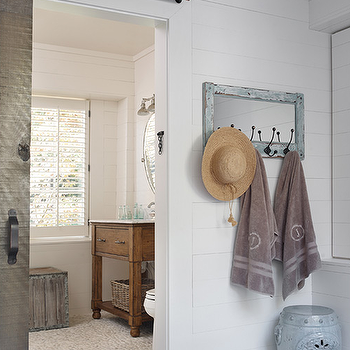 Cottage Bathroom with Barn Door, Cottage, Bathroom