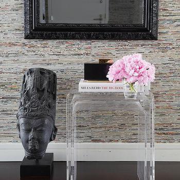 Peekaboo Acrylic Nesting Tables Set of Three, Contemporary, Entrance/foyer