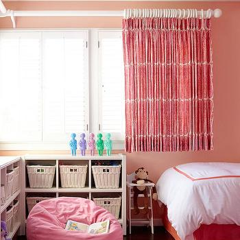 Girls Room with Short Curtains, Transitional, Girl's Room