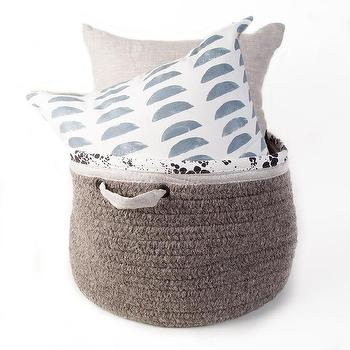 Wool and Linen Gray Basket