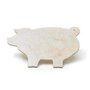 Marble Piggy Shape Cheese Board