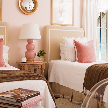 Pink And Tan Bedrooms