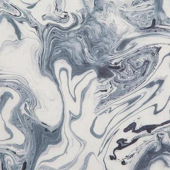 Marble Sea Blue Fabric