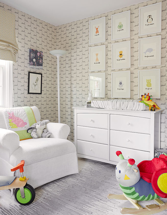 Changing Table And Bookcase Transitional Nursery Cape 27