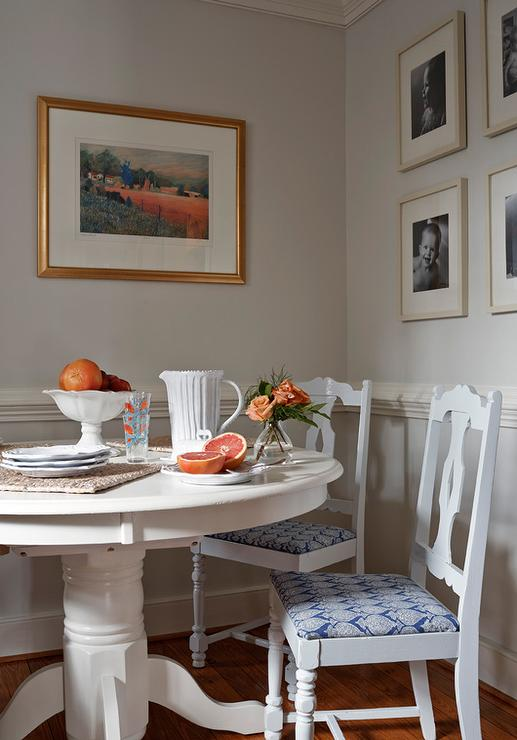 Gray Walls with White Chair Rail - Cottage - Dining Room