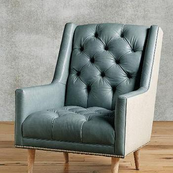 Leather Booker Gray Armchair