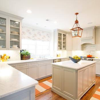 Kitchen Ideas Orange gray and orange kitchens design ideas
