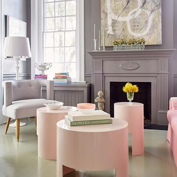 Round Pink Coffee Tables