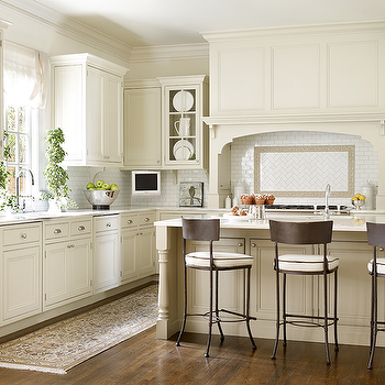 Ivory Shaker Kitchen Cabinets, Transitional, Kitchen