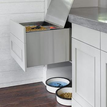 Dog Food Storage Ideas, Contemporary, Kitchen