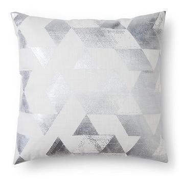 Nate Berkus Metallic Triangle Decorative Pillow