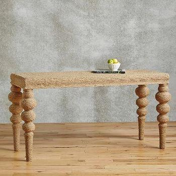 Neutral Jute-Wrapped Console
